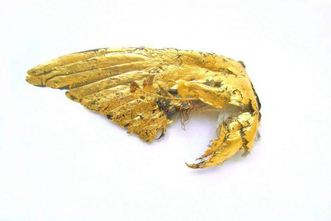 WING – De la série des Animaux Momifiés – Emboîtage, or – 39 x 59 cm – 2007