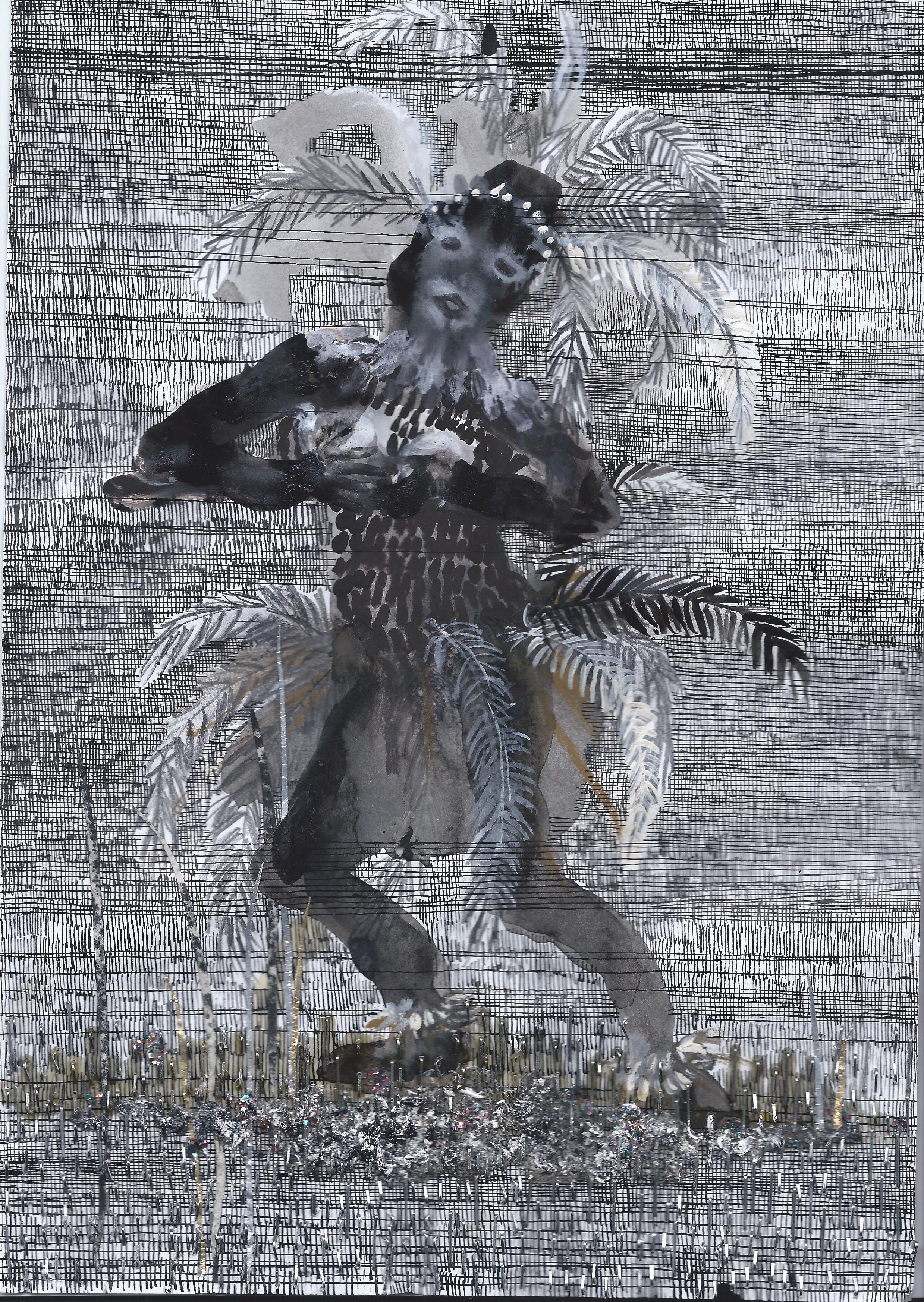 Sans titre - Technique mixte sur papier - 29,5 x 20,5 cm - 2016 - Collection particulière