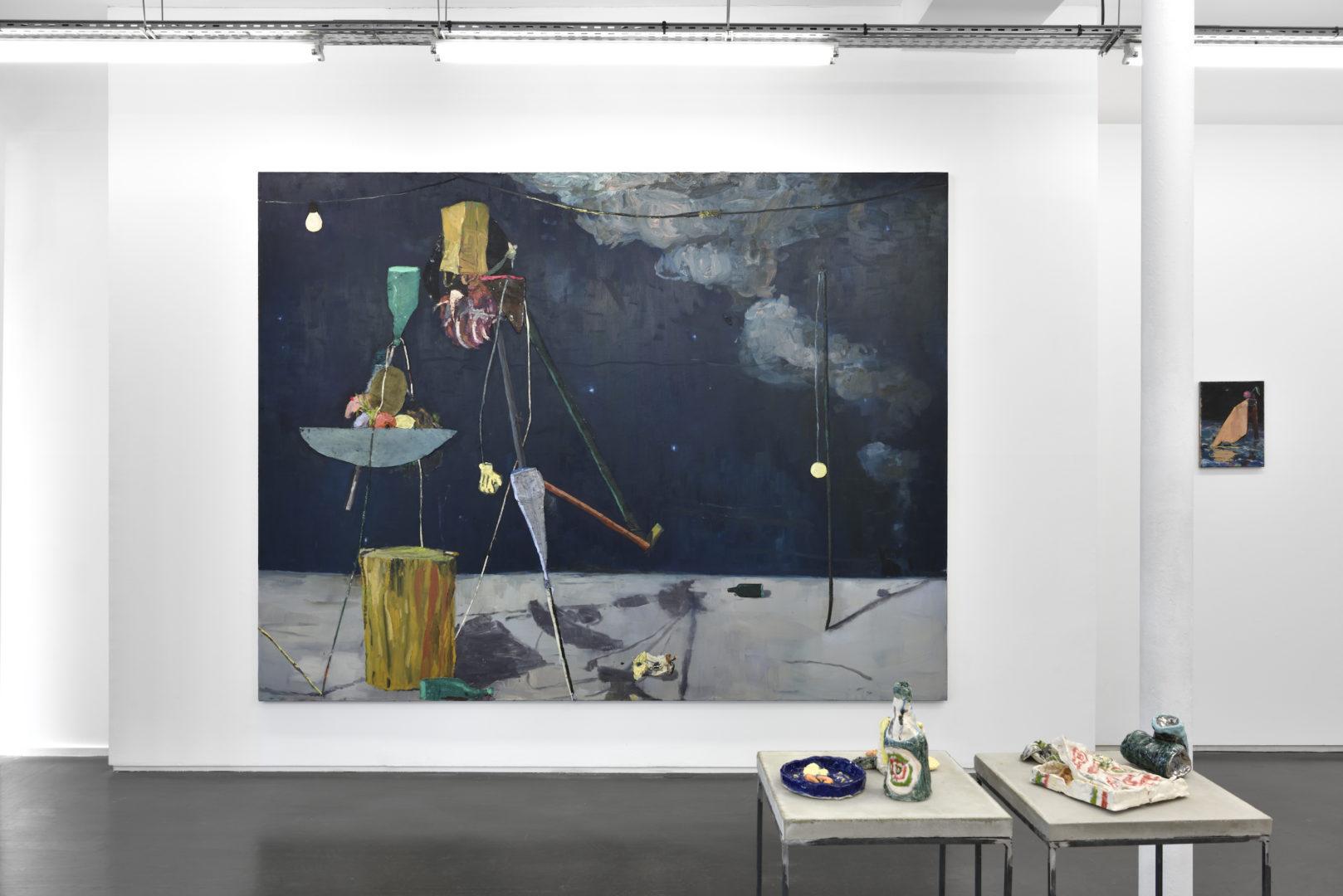 Vue de l'exposition J.W.D. - Galerie Maïa Muller, 2017 ©Rebecca Fanuele