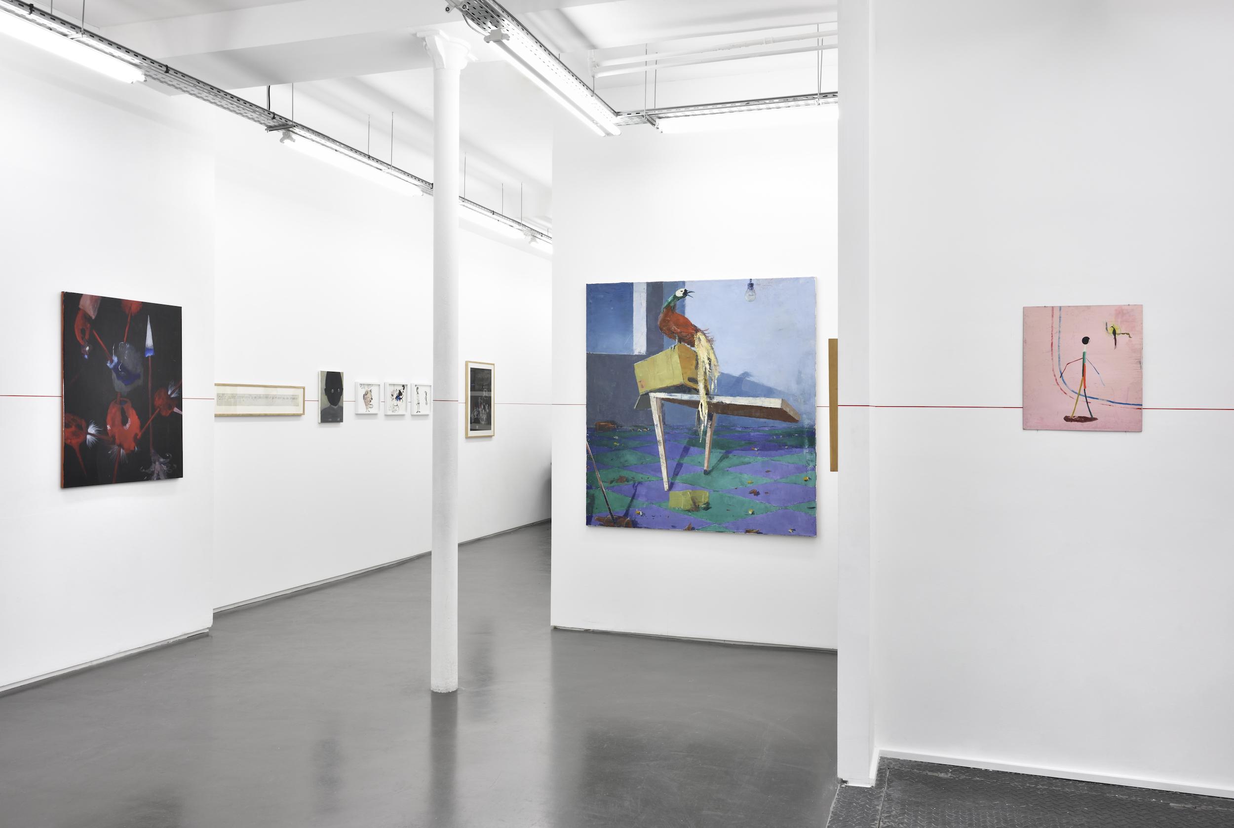 Vue de l'exposition La Ligne Rouge, Chapitre trois - Galerie Maïa Muller, 2018 ©Rebecca Fanuele