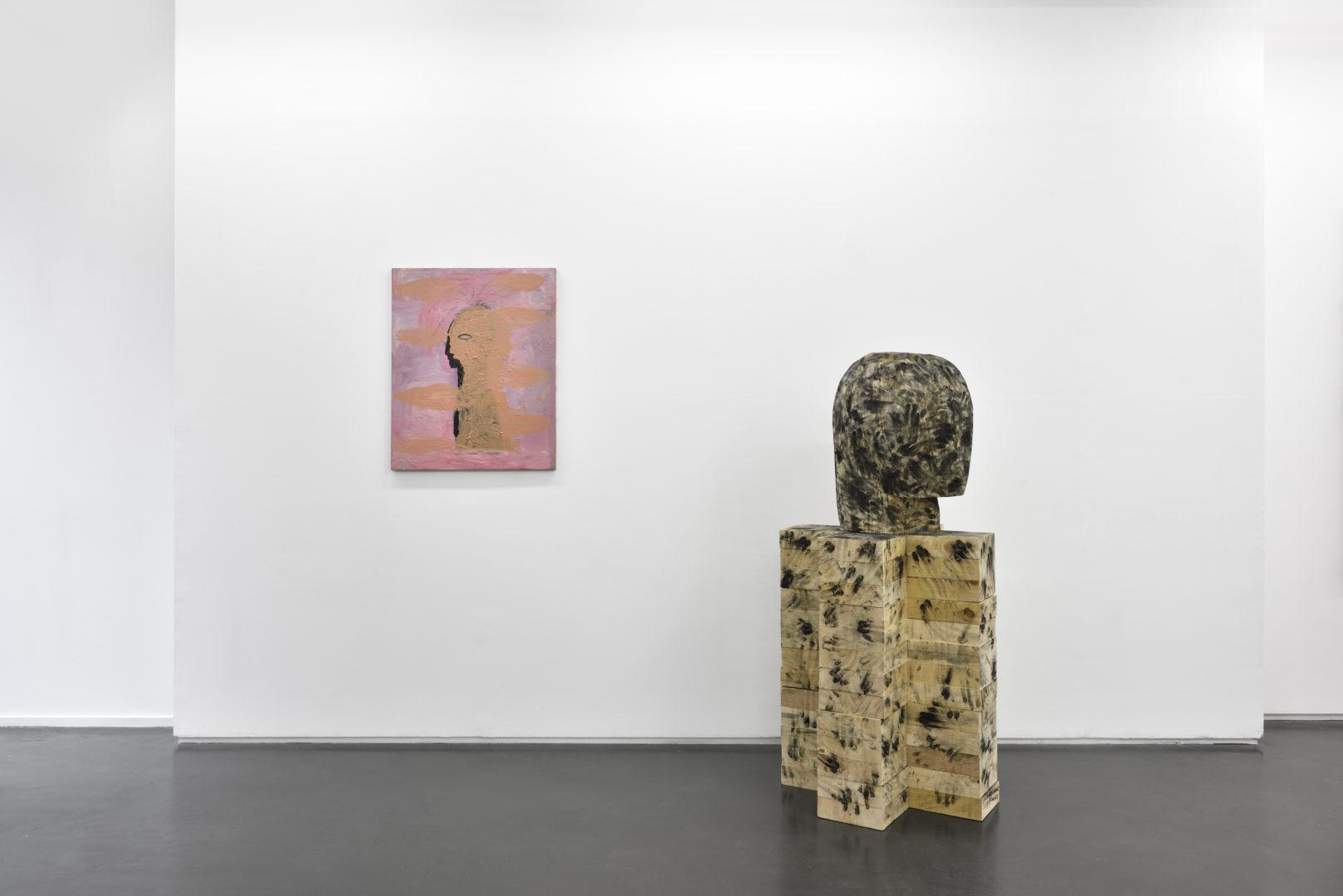 Vue de l'exposition Phantoms of inspiration - Galerie Maïa Muller, 2018 ©Rebecca Fanuele