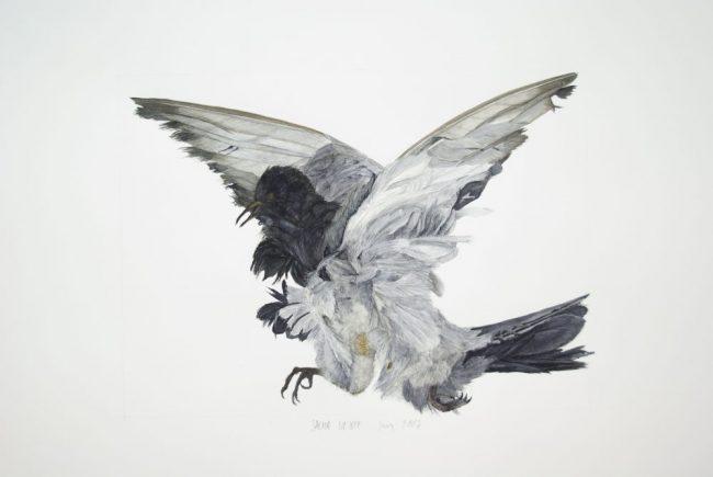 Icare - Aquarelle sur papier - 50 x 65 - 2007