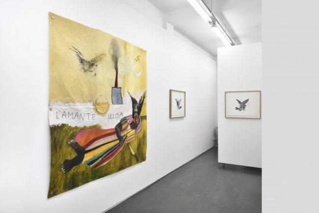 Vue de l'exposition Sacha Ketoff ou le rêve d'Icare, Galerie Maïa Muller, 2016