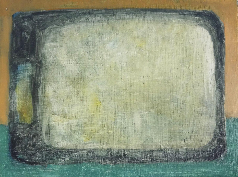 Télévision n.2 - Huile sur bois - 15 x 20 cm - 2015