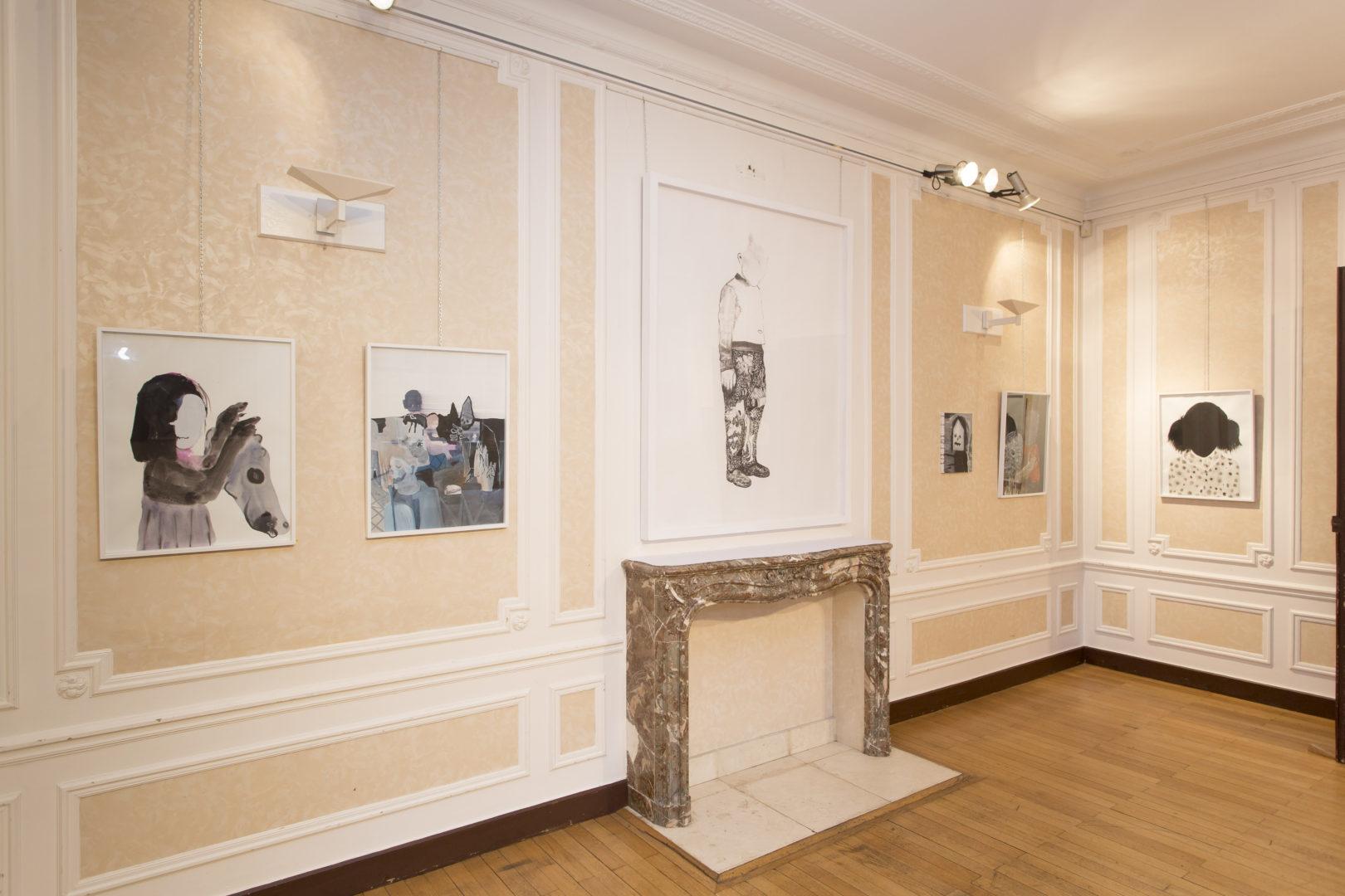 Vue de l'exposition Disparates - Commissaire : Philippe Ancelin - Villa St Cyr, 2016