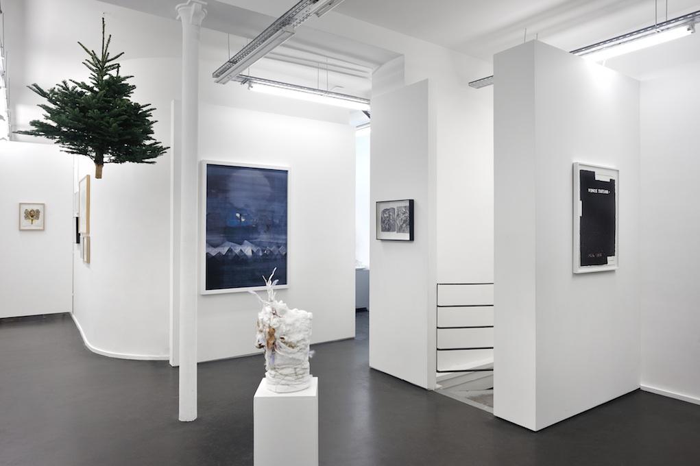 Vue de l'exposition Ça sent le sapin - Galerie Maïa Muller, 2015 ©Rebecca Fanuele