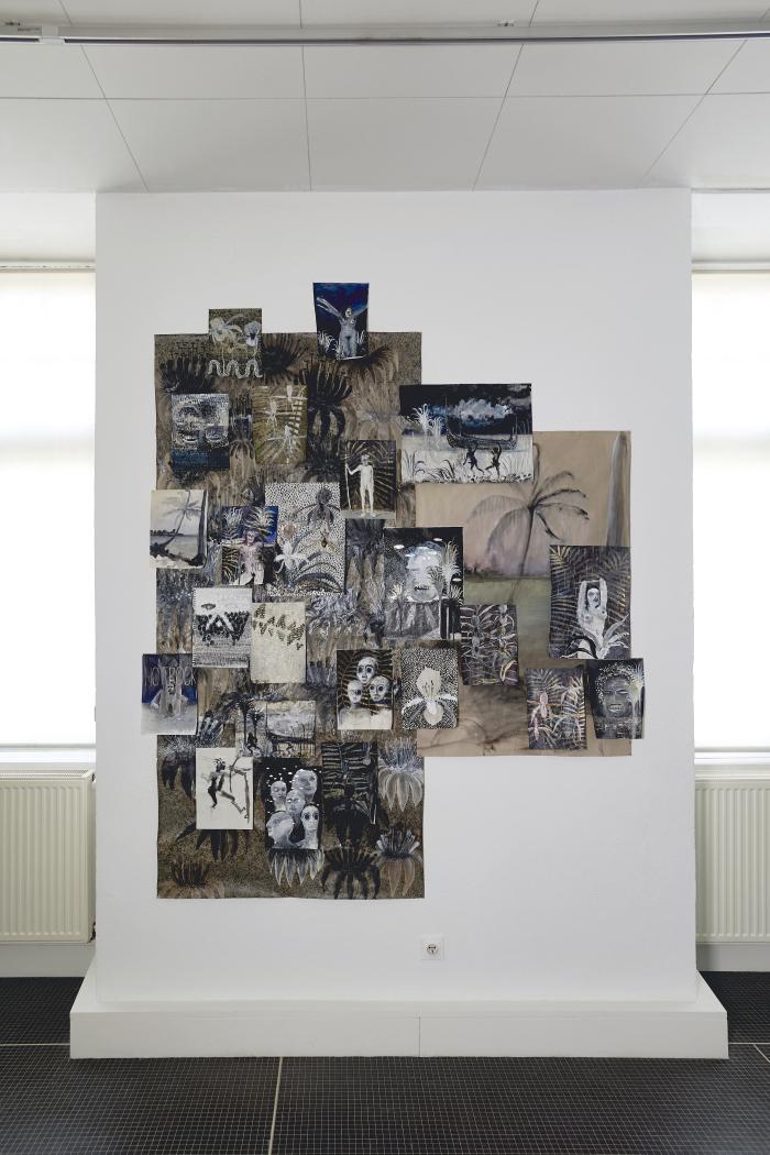 Vue de l'exposition Peindre dit-elle - Commissaire : Julie Crenn - Musée des Beaux-Arts, Dôle
