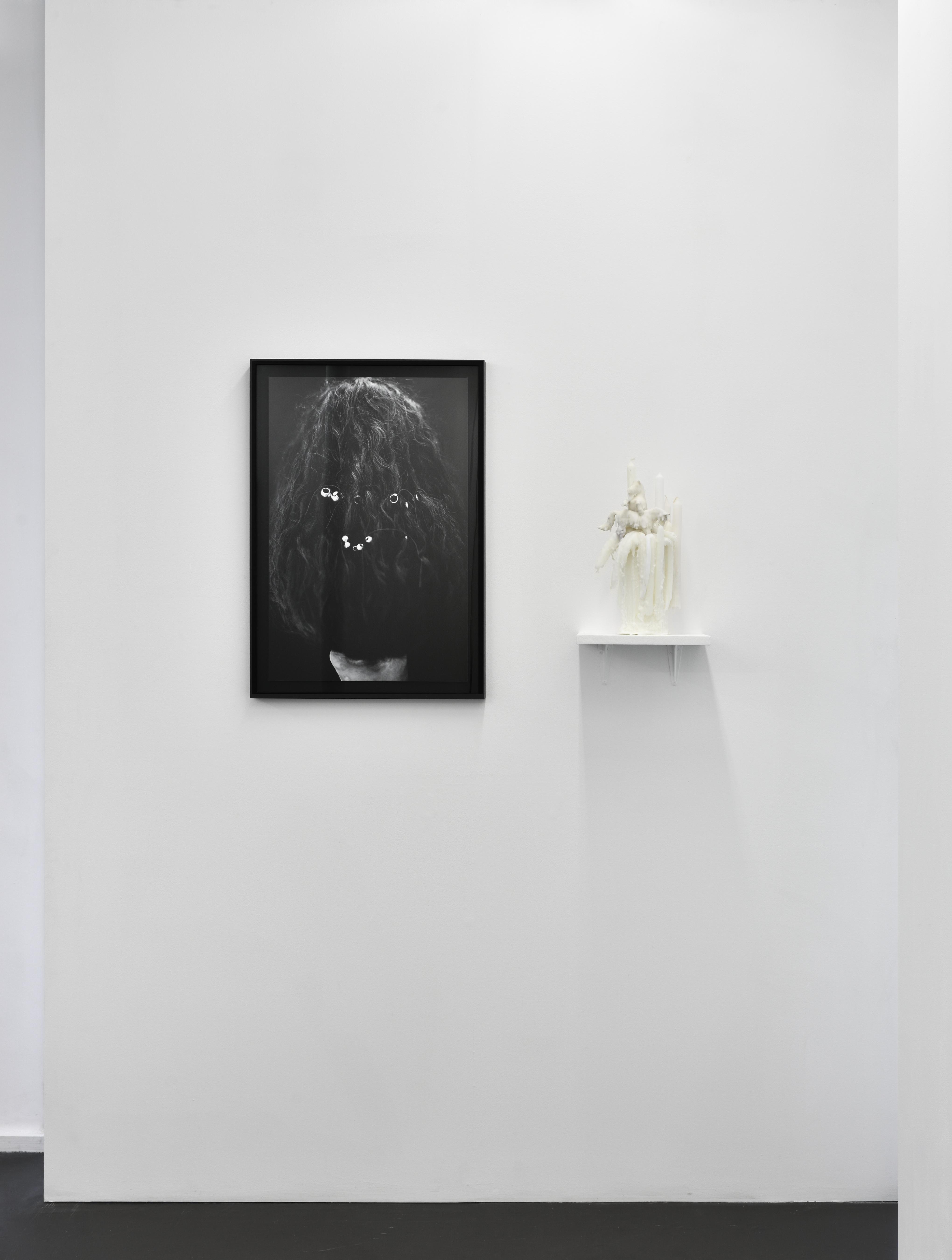 Vue de l'exposition HOSTIE, 2017 - Galerie Maïa Muller ©Rebecca Fanuele