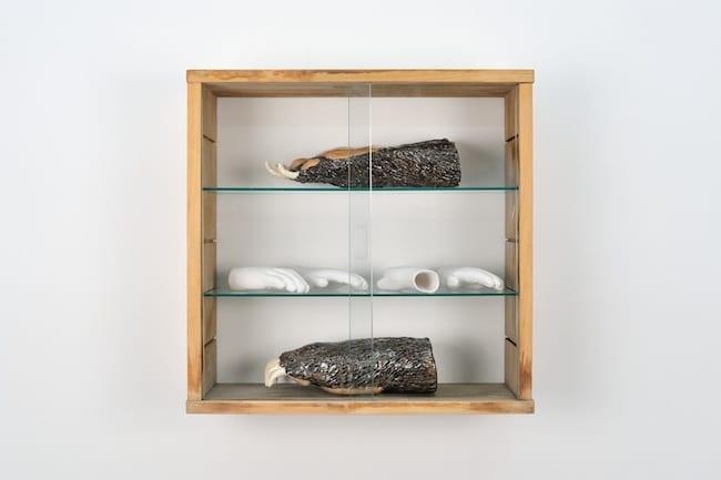 Pattes d'Ours - Céramique émaillée / Mains blanches - Porcelaine - Dimensions variables - 2014 - Collection particulière