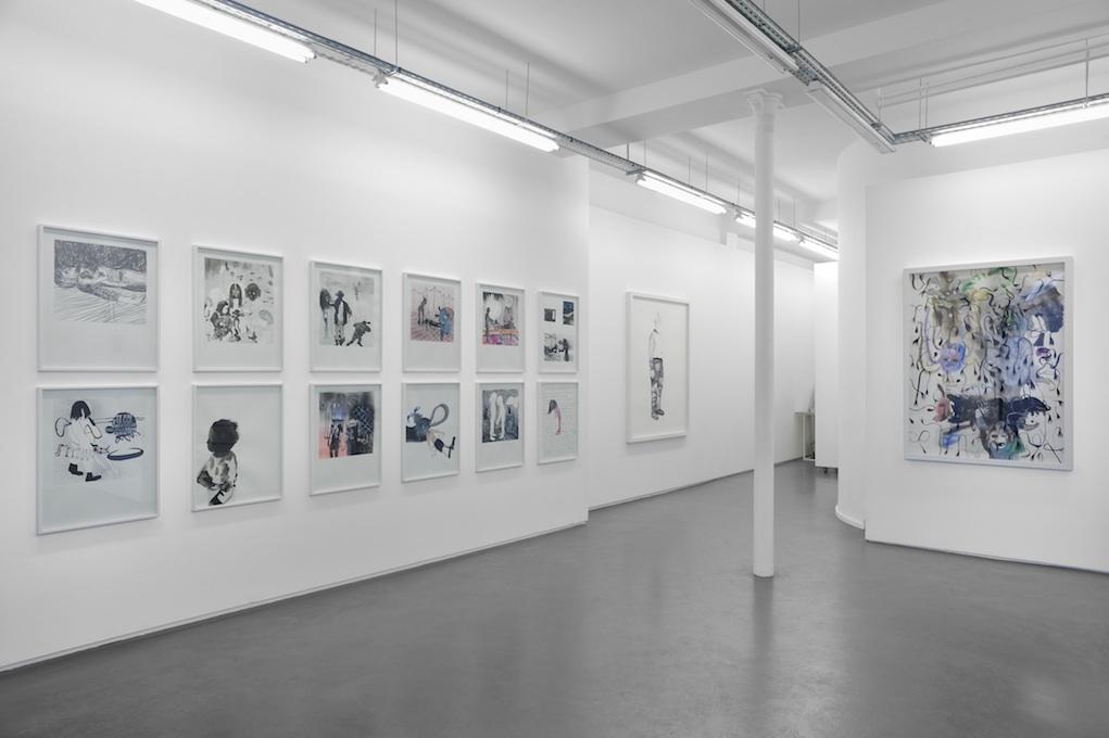 Vue de l'exposition Seconde Ligne, Galerie Maïa Muller 2017 ©Rebecca Fanuele