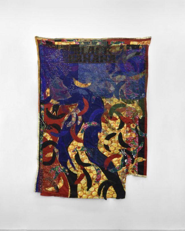 Black Banana - Textiles assemblés - 210 x 150 cm - 2016 © Rebecca Fanuele