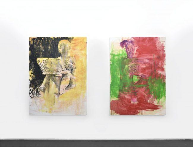 Sans titre - Acrylique et huile sur toile - 160 x 113 cm - 2016 - Collection particulière & Sans titre - Acrylique et huile sur toile - 160 x 113 cm - 2016 © Rebecca Fanuele