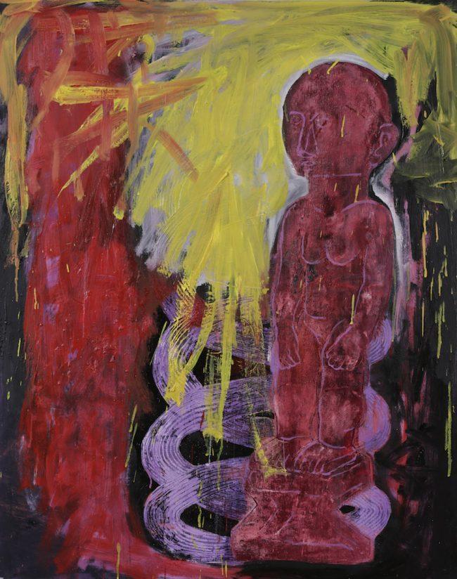 Sans titre - Acrylique et huile sur toile - 92 x 73 cm - 2015 / 2016 - Collection particulière