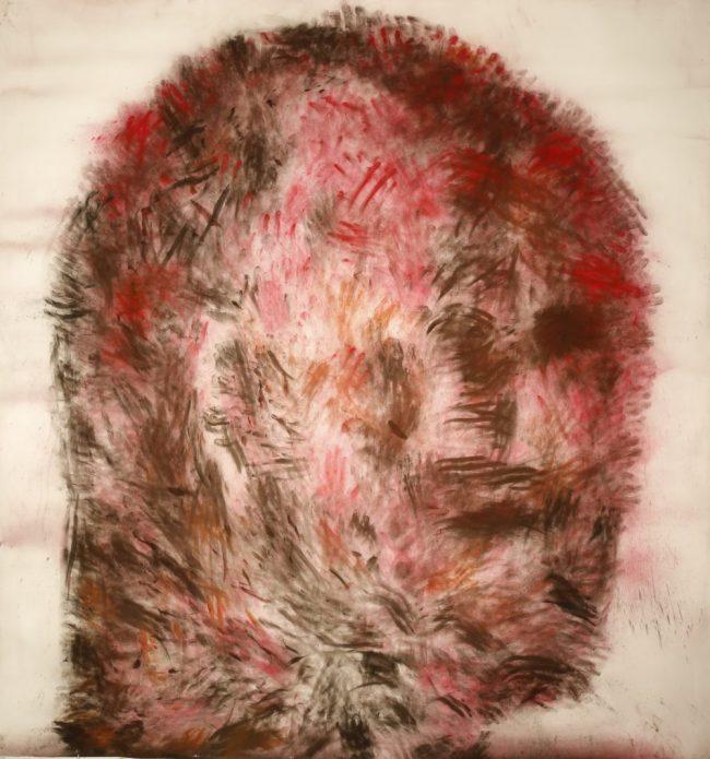 Wanted - Pigments et poudre de fusain sur papier - 216 x 200 cm - 2014
