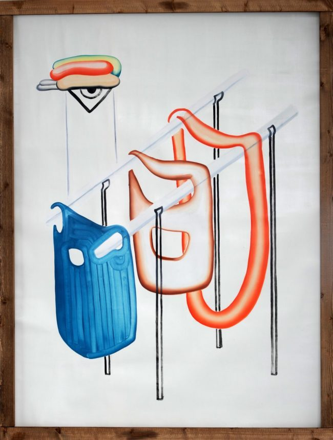 A travès de - Huile sur papier - 142 x 106 cm - 2015