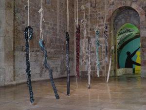 Myriam Mihindou Transmissions vue exposition 2018 Musée national Pablo Picasso: la guerre et la paix