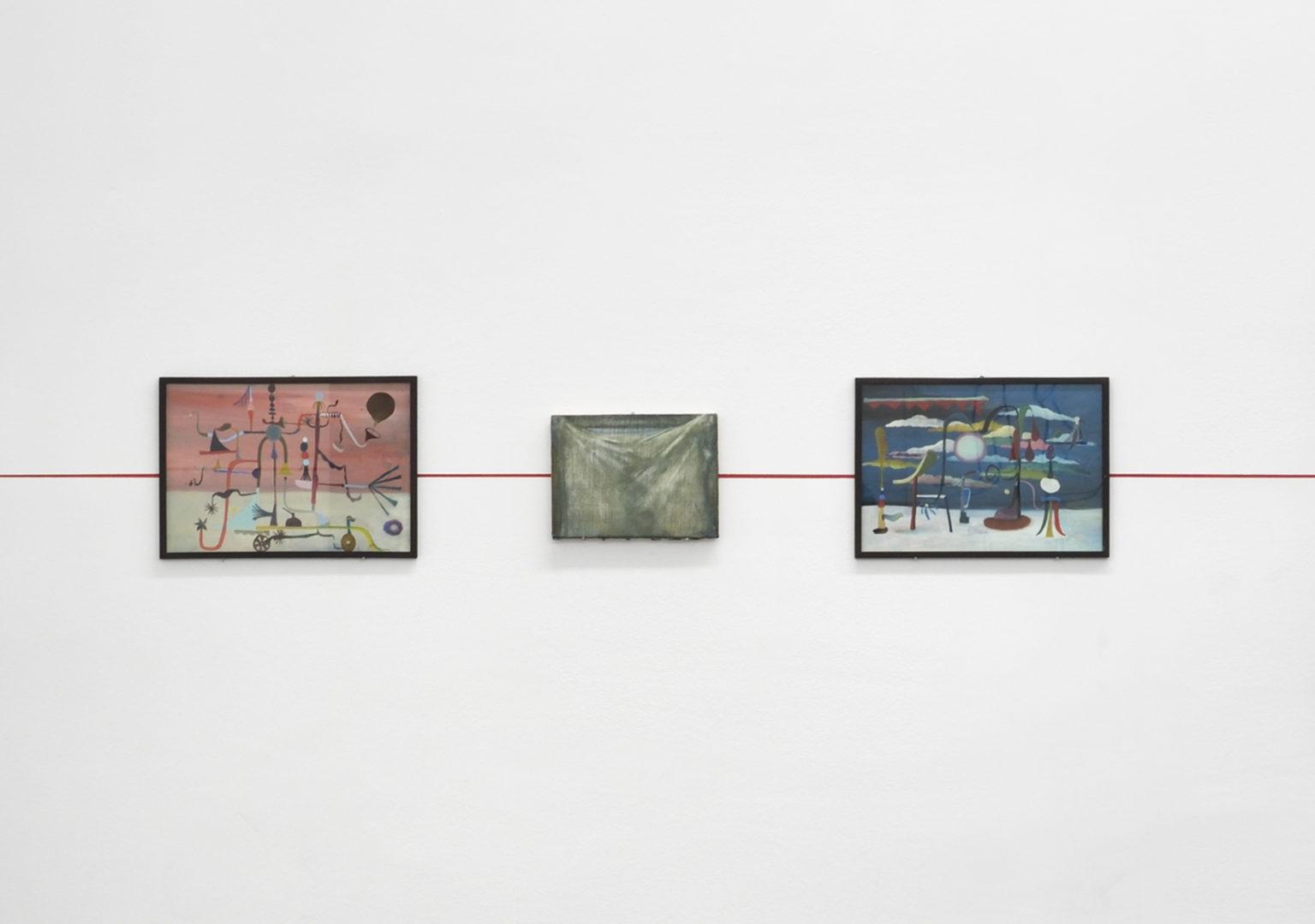 Vue de l'exposition La Ligne Rouge Chapitre Trois, Galerie Maïa Muller - 2018 ©Rebecca Fanuele