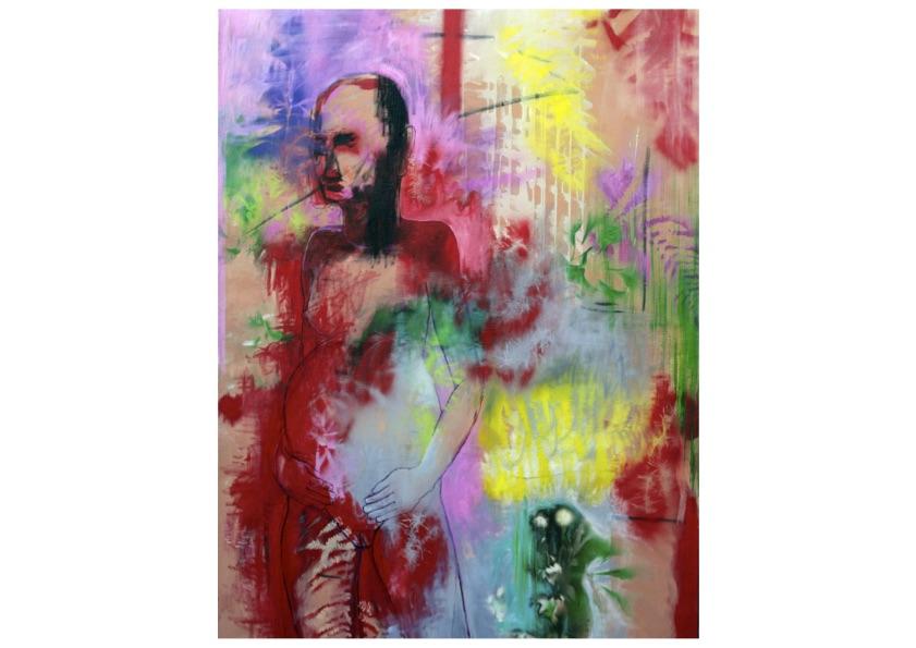 Sans titre  (Série The Abundant Women) - Huile sur toile - 160 x 120 cm - 2019