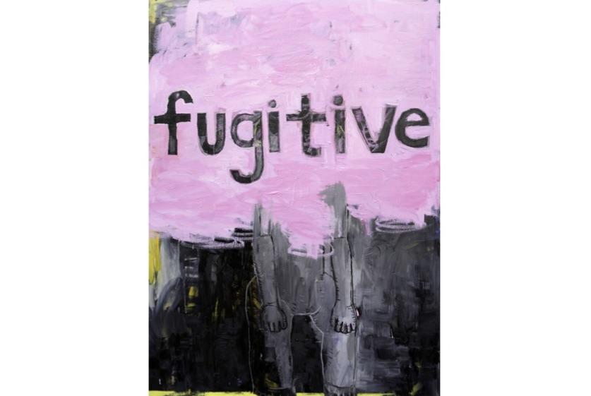 Fugitive - Huile et acrylique sur toile - 136,5 x 93 cm - 2019