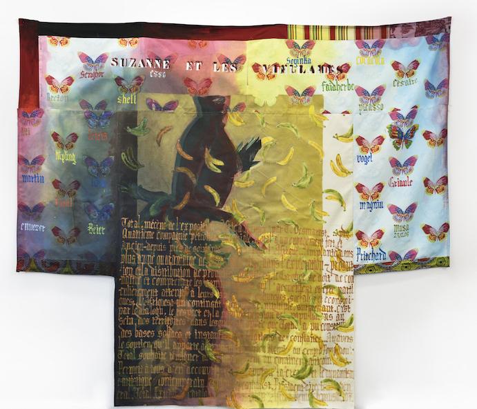 Suzanne et les vieillards I - Encre sur textile - 253 x 288 cm - 2006 - Courtesy de l'artiste et Galerie Maïa Muller ©Rebecca Fanuele copie